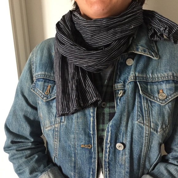 madewell accessories pinstripe hipster scarf poshmark